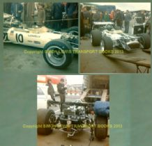 "LOTUS 49 Pete Lovely 1970 Race of Champs Brands Hatch set of 3 photos (5x5"")"